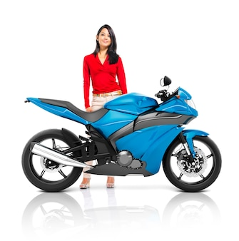 Conceito do transporte do roadster da bicicleta da motocicleta do velomotor