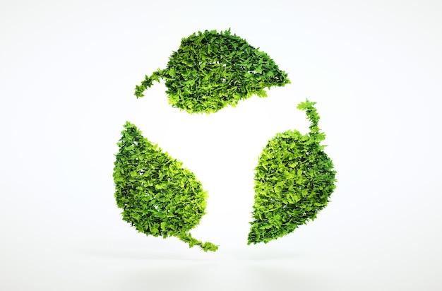 Conceito eco sustentável com traçado de recorte incluído.