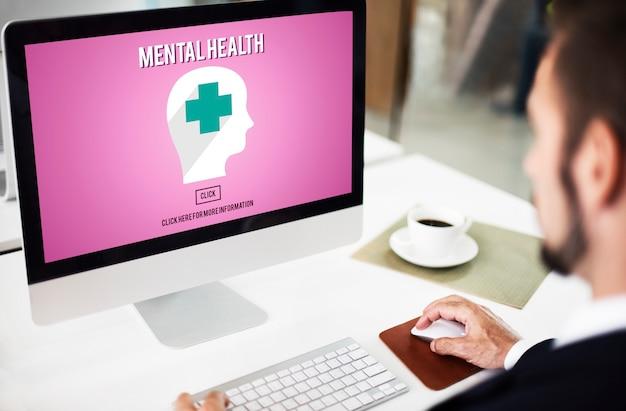 Conceito emocional de gerenciamento de estresse psicológico de saúde mental