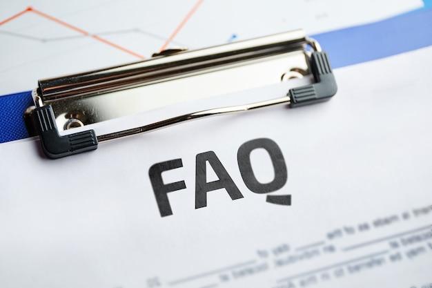 Conceito faq sobre as principais questões no tema da preparação do contrato.