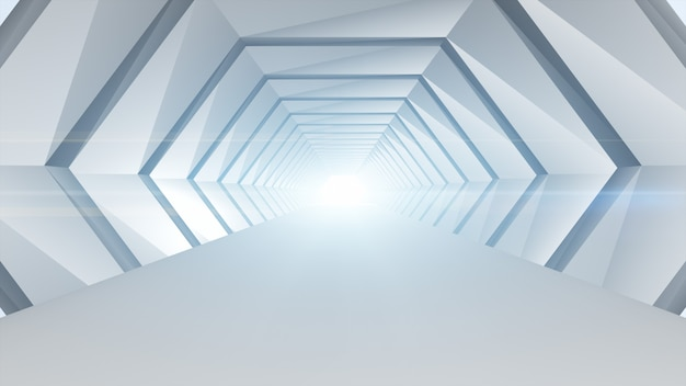 Conceito geométrico da arquitetura do sumário futurista do túnel.