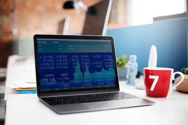 Conceito global da informação da bolsa de valores da finança