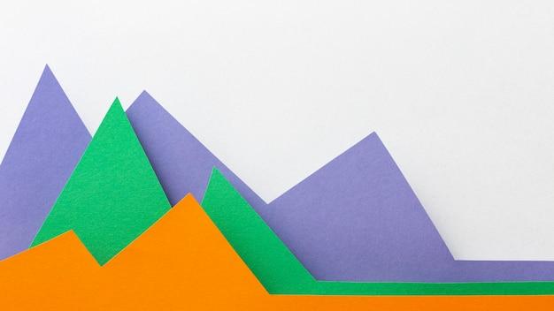 Conceito gráfico com camada plana de papel colorido