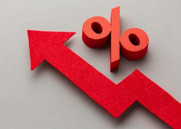 Conceito gráfico com símbolo de porcentagem