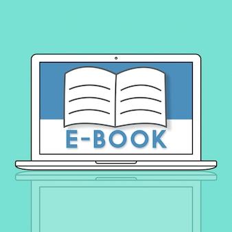 Conceito gráfico de aprendizagem on-line do open pages book e-book