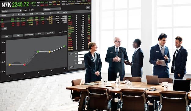 Conceito gráfico de finanças de forex para negociação em bolsa de valores