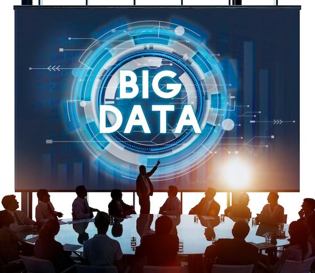 Conceito grande dos trabalhos em rede do sistema do armazenamento de informação dos dados