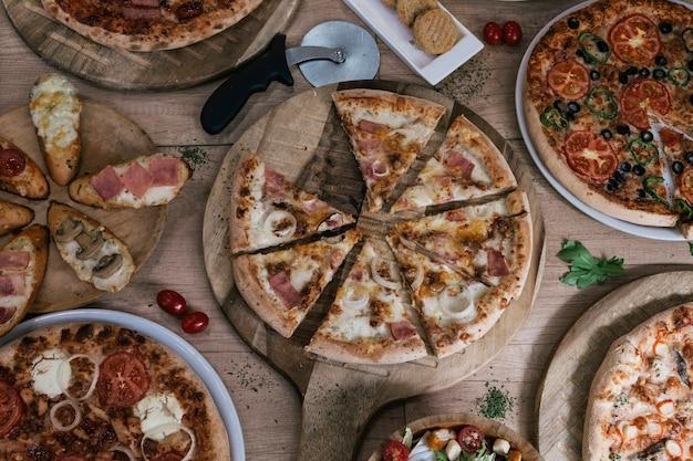 Conceito italiano de pizza e pizzaria.
