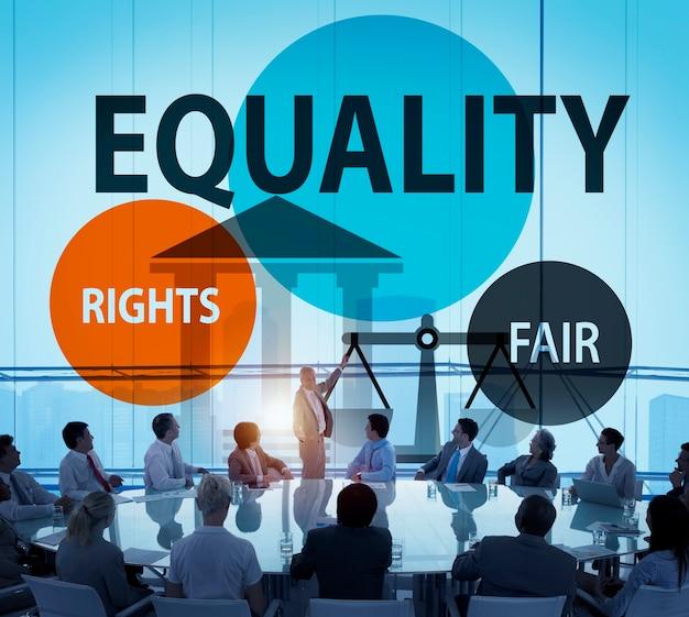 Conceito justo da justiça do equilíbrio da paridade da igualdade