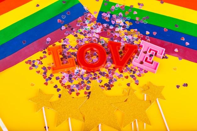 Conceito lgbt, texto amor, bandeira lgbt