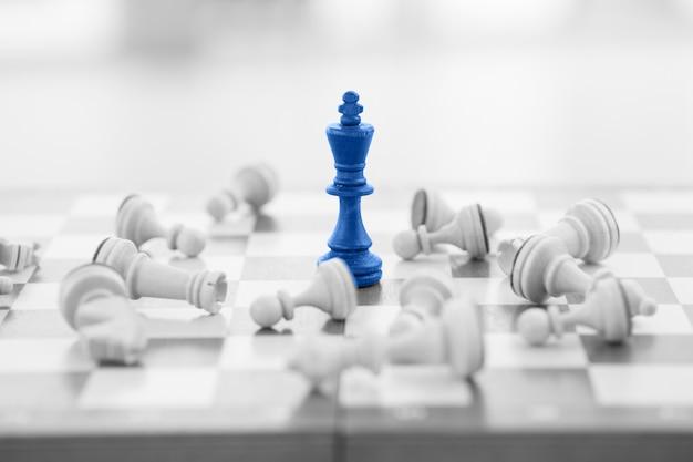Conceito, líder e sucesso do negócio de xadrez
