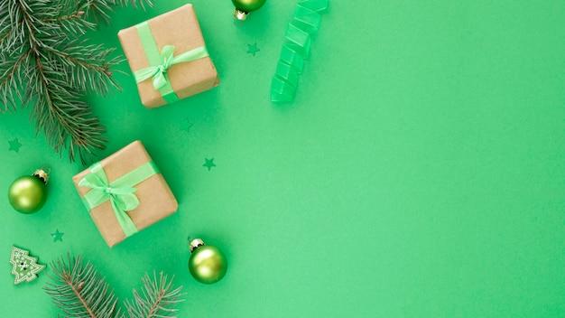 Conceito lindo de véspera de natal com espaço de cópia