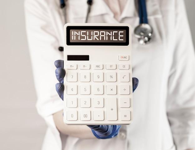 Conceito médico e de saúde da palavra seguro de saúde