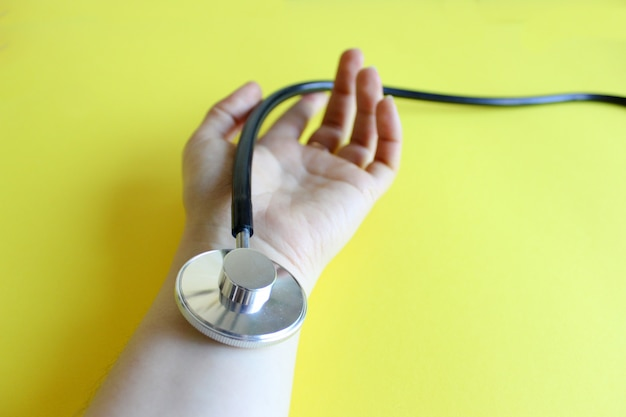 Conceito médico, medição de pulso
