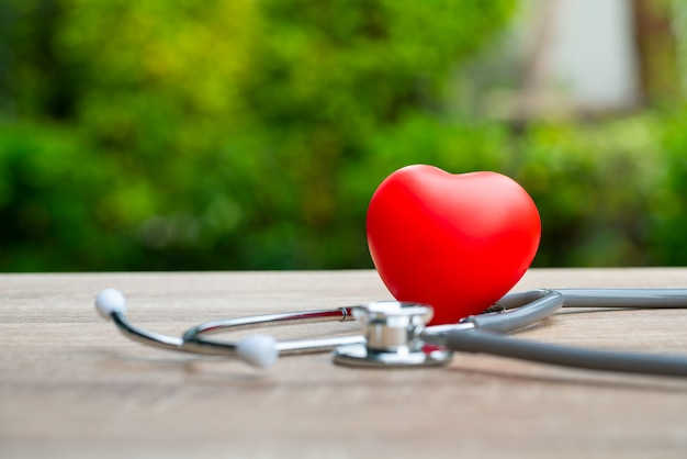 Conceito médico no coração das mãos da família