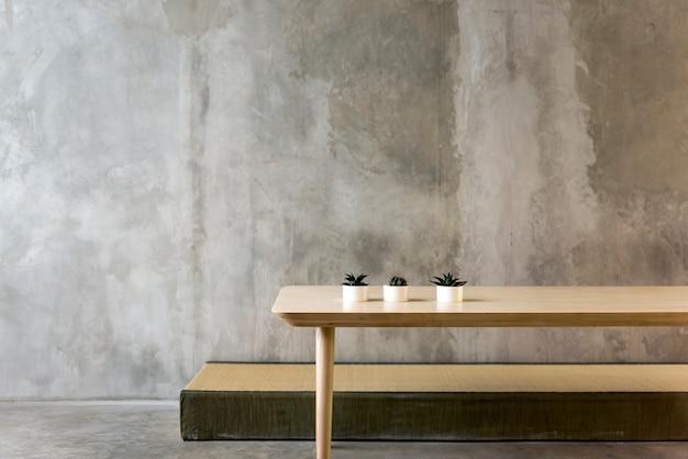 Conceito objetivo interior da loja do projeto do café