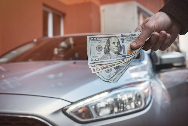 Conceito para comprar ou alugar um novo conceito de financiamento de automóveis