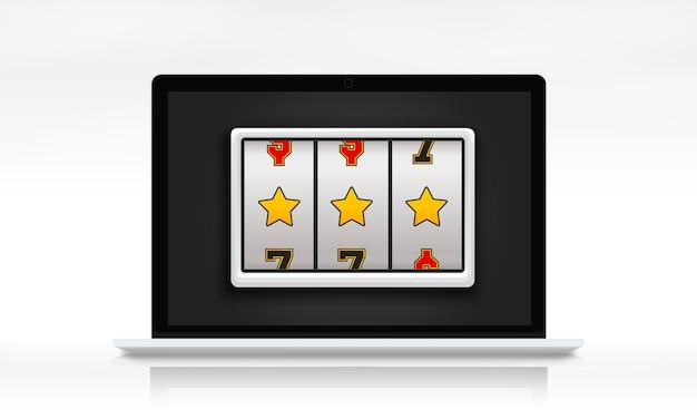 Conceito para ganhar o prêmio lotto slot machine Foto gratuita