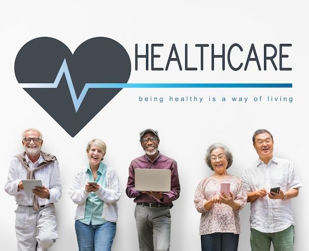 Conceito saudável do bem estar do bem-estar do estilo de vida