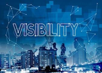 Conceito visível visível da visibilidade da visão