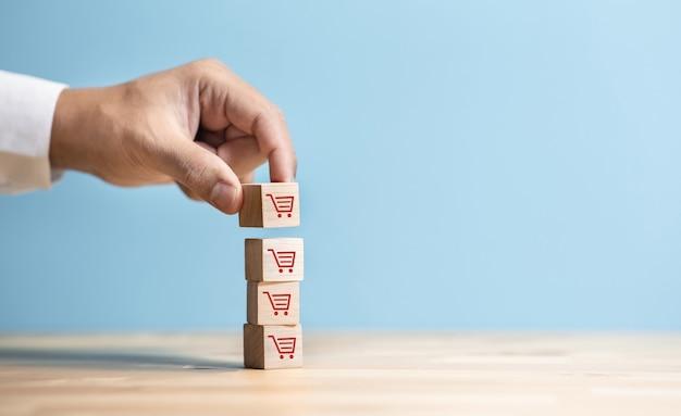 Conceitos de crescimento de compras online e comércio eletrônico empresarial