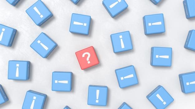 Conceitos de ilustração de uma pergunta e muitas respostas