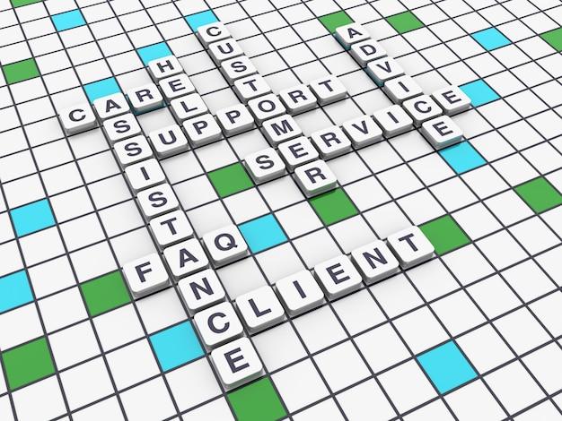 Conceitos de suporte de palavras cruzadas