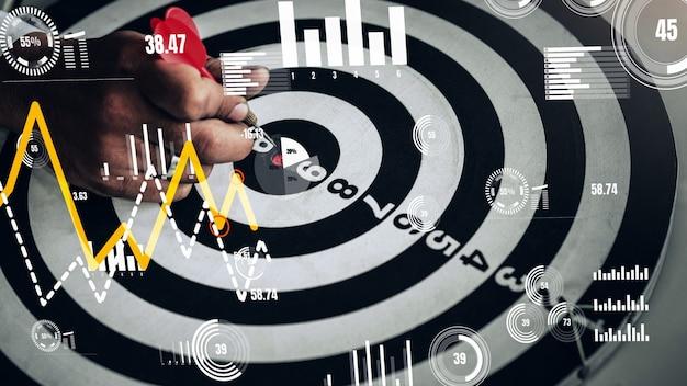 Conceitual de desafio no sucesso de marketing empresarial