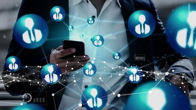Conceitual de recursos humanos e rede de pessoas