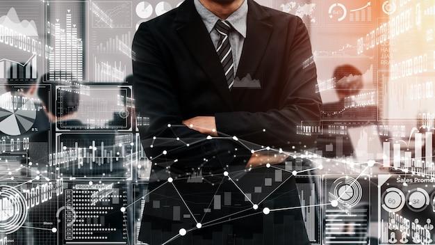 Conceitual de tecnologia de big data para finanças empresariais.