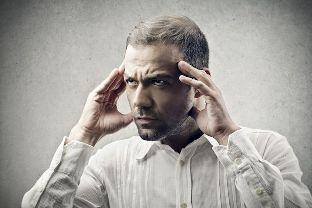Concentrando-se concentrando o pensamento