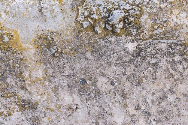 Concreto de textura de ardósia de amianto coberto com líquen e musgo, cimento natural de material industrial