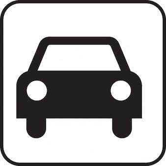 Condução sinal motorizada automóvel carro símbolo ícone