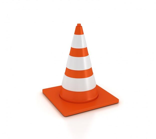Cone de tráfego 3d