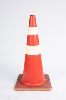 Cone de tráfego de amarração de estrada em branco