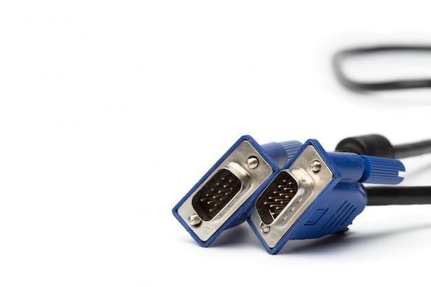 Conector de cabo de entrada de pc de tecnologia vga isolado
