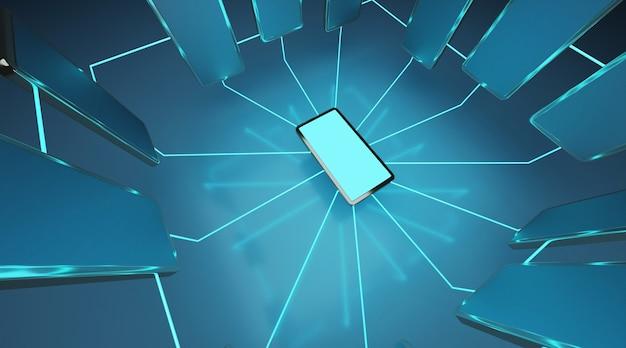 Conexão de celular.