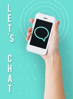Conexão de comunicação de contatos de bolha de fala