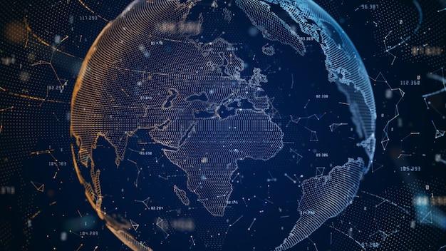 Conexão de dados big da rede de tecnologia