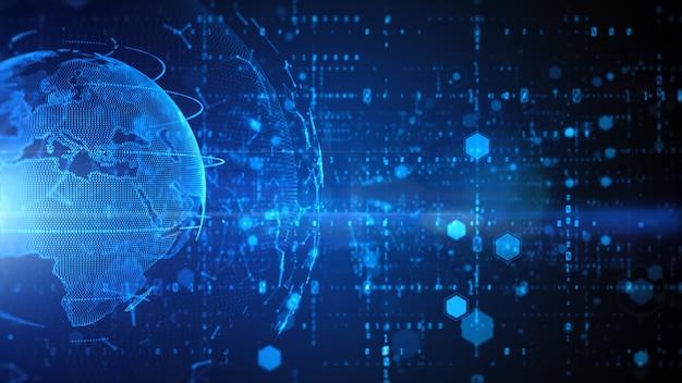 Conexão de dados de rede de tecnologia, dados digitais de segurança cibernética