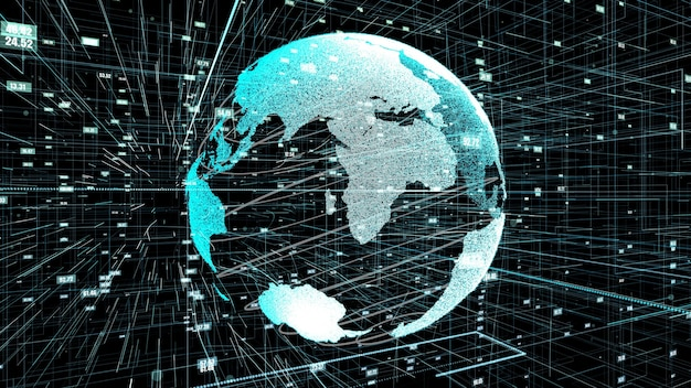 Conexão de rede global de internet online