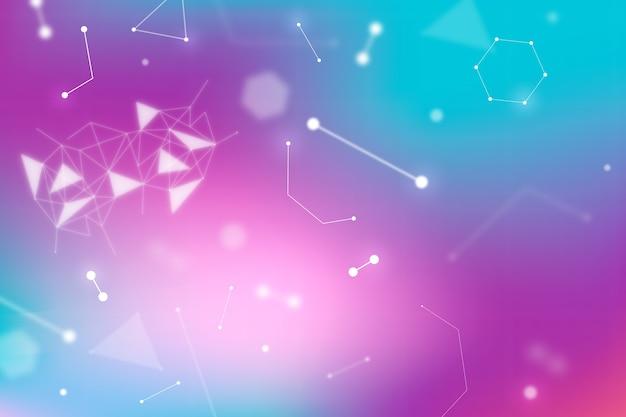 Conexão de tecnologia de negócios em nuvem e dna e cromossomo