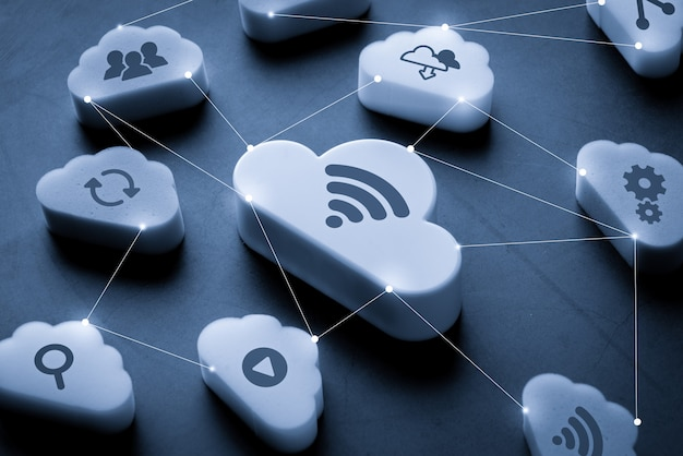 Conexão de tecnologia em nuvem
