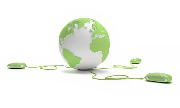 Conexão mundial em verde