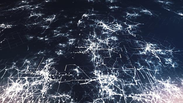 Conexões de circuito brilhantes