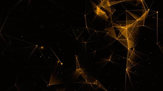 Conexões de rede digital e luz de fundo