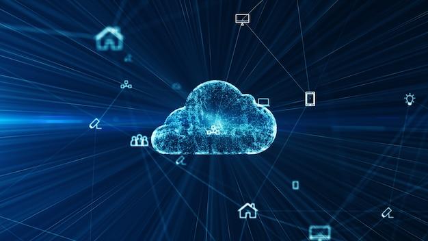 Conexões de rede social e tecnologia da informação da internet das coisas iot computação em nuvem de big data.