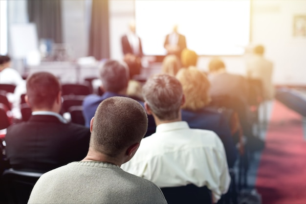 Conferência de treinamento, seminário, apresentação de negócios, audiência, reunião