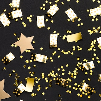 Confete dourado para festa