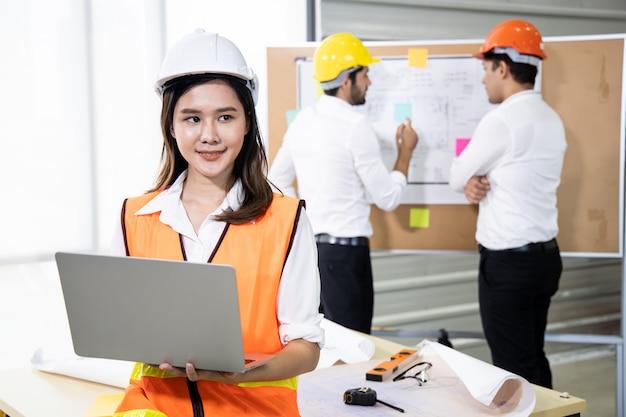 Confiança dos jovens engenheiros para trabalhar profissionalmente.